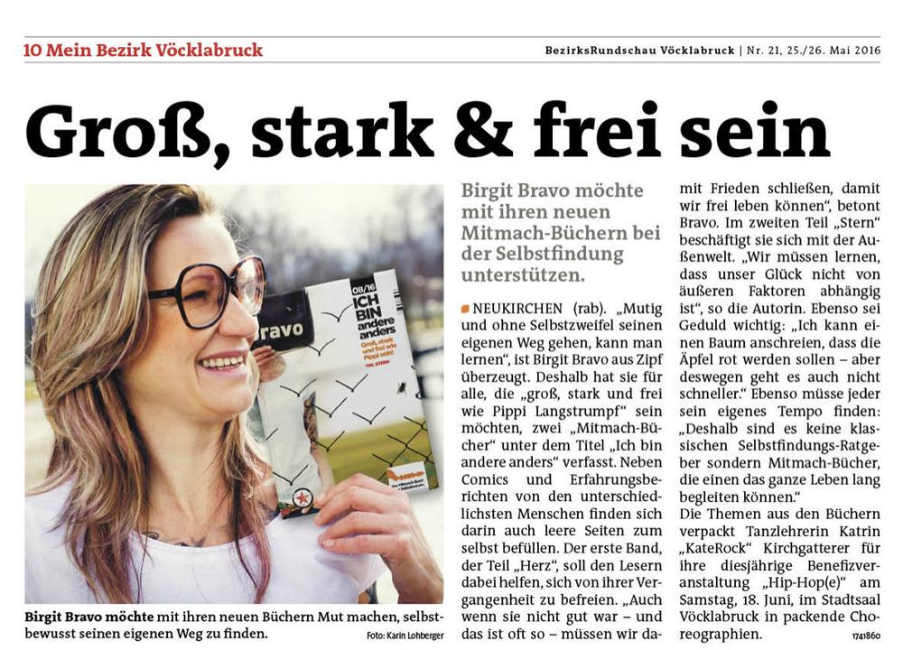 Groß, stark und frei sein. (MeinBezirk Vöcklabruck KW21/2016)